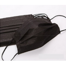 Маски за лице кутия, черни с черен ластик 50 бр